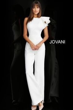 Informal wedding dresses by Jovani at the lowest prices through the official Jovani retailer store. Shop the full range of bridal gowns with next day shipping. Informal Wedding Dresses, Elegant Dresses, Casual Wedding, Casual Dresses, White Outfits, Classy Outfits, Pretty Outfits, Jumpsuit Outfit, Peplum Dress
