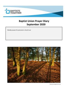 Weekly prayers for personal or church use from Baptists Together Worship, Prayers, Country Roads, Beans