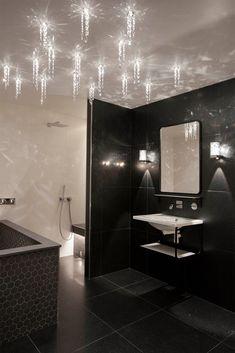 Tunnelmallinen saunavalaistus syntyy nykytekniikalla - Suomela - Jotta asuminen olisi mukavampaa Joko, Bathroom Lighting, Bathtub, Mirror, Showroom, Furniture, Home Decor, Bathroom Light Fittings, Standing Bath