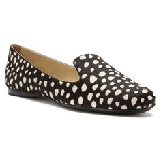 French Sole FS/NY Women's Gaga Spot Haircalf Slip-On Loafer,Black/White Spot M US -- Details can be found by clicking on the image. Toms Classic, Size 10 Women, Flats, Sandals, Loafers For Women, Other Accessories, Slip On, French, Black And White