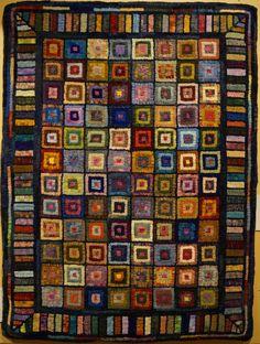 "Fish Eye Rugs blog -- ""Friendship Squares"" by Lauri Troutman"