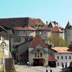 The village of Gruyères and its castle