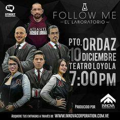 By @sarrapiapro -  #FollowMe #ElLaboratorio  Este sábado #10Dic en el #TeatroLoyola  Más información a través  @innovacorporationca  #PuertoOrdaz #Guayana #Venezuela  Adquiere tus entradas en http://ift.tt/1QJWB33