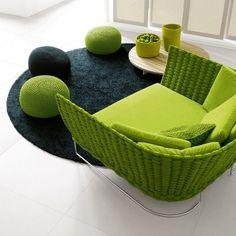 Paola Lenti Ami Sofa. Onderdeel van de Ami-serie. Met bijpassende lounge fauteuils. -