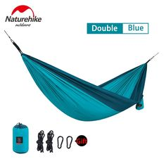 Sports & Entertainment Tents & Shelters Naturehike Outdoor Travel Camping Double Hammock Hanging Sleeping Swing Bed With Mosquito Net Tunnel Type Lightweight Folding To Suit The PeopleS Convenience