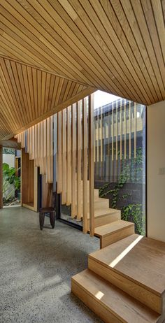 Fox Johnston Architects Balmain House Timber stairs