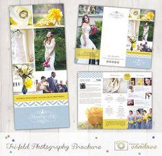 Tri-fold Photography Brochure Template by designbycandace on Etsy