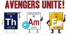 cakeismybrain:    Avengers + science jokes = automatic win.