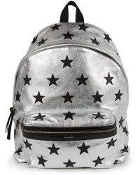 9e40af7f64 SAINT LAURENT Metallic Leather Star Hunting Backpack.  saintlaurent  bags   leather  lining