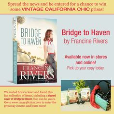 Raid Abra's closet! Pin to win great prizes based off Abra from #FrancineRivers latest novel, #BridgetoHaven