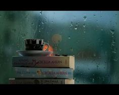 I love reading books and having a cup of tea on a rainy day One Of Those Days, World Of Books, Day Book, Coffee And Books, Jolie Photo, Book Nooks, I Love Books, Rainy Days, Book Lovers