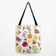 Fruit Salad Yummy Yummy Tote Bag by Noonday Design | Society6 #style #fashion #accessories