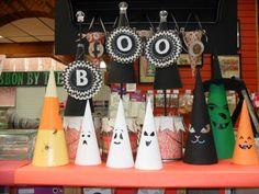 Halloween Paper Mache Cone Decorations   Porter's Craft & Frame