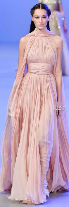 This ethereal look in pastel is amazing. Elie Saab Spring 2014 Couture Collection. Love this!