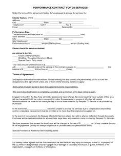 wedding dj contract templateregularmidwesterners resume