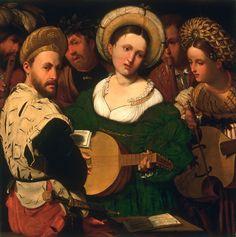 ca. 1520s - 'Musical Group ', by Callisto Piazza (Calisto de la Piaza da Lodi), Italian (active Lodi and Brescia), first documented 1524, died 1561 1561 – Born in Lodi, Italy. Dead in Lodi, Italy. Oil on panel. Philadelphia Museum of Art.
