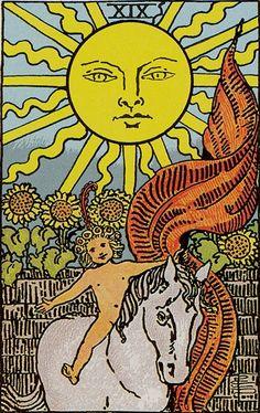 The origins of the Tarot are surrounded with myth and lore. The Tarot has been thought to come from places like India, Egypt, China and Morocco. Others say the Tarot was brought to us fr O Sol Tarot, Tarot Rider Waite, The Sun Tarot Card, Tarot Significado, Daily Tarot, Tarot Card Meanings, Tarot Readers, Major Arcana, Card Reading