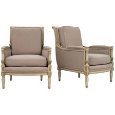 Pair of 19th Century French Directoire Bergères 1