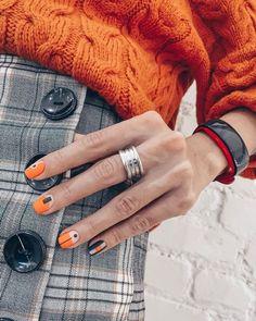 Fall Nail Art, Fall Nail Colors, Fall Nail Trends, Color For Nails, Nagellack Trends, Modern Nails, Minimalist Nails, Yellow Nails, Fall Nail Designs