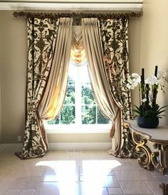 Beautiful Elegant Formal Living Room Drapery made by Tracy Arnold