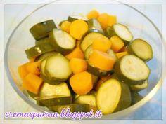 Crema e panna: Verdure lesse (senz'acqua) con amc