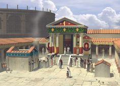 Digital reconstruction of the Temple of Isis in Pompeii