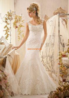 Vlečka na zem Jaro Přírodní Svatební šaty 2014