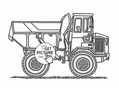 cool garbage truck coloring page for kids, transportation coloring ... - Construction Trucks Coloring Pages