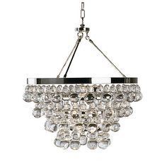 Bling Crystal Drop Chandelier in Polished Nickel | Gracious Home | Product