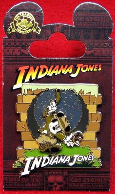 Disney Indiana Jones Adventure 2015 Disneyland Mickey Mouse Pin on Card