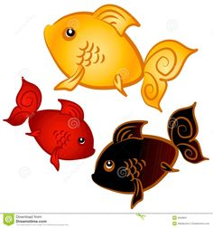 Swimming Goldfish Clip Art Stock Image - Image: 2848691
