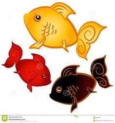 Swimming Goldfish Clip Art Stock Image - Image: 2848691