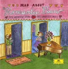 1994 Mad About Romantic Piano [Deutsche Grammophon 445771-2] cover illustrations: Roz Chast #albumcover