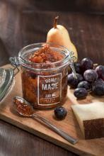 Viikunahillo (käy kaikille kuivatuille hedelmille mm. Luomuaprikoosi) Fig Jam, Moscow Mule Mugs, Tapas, Pudding, Yummy Food, Jar, Sweets, Homemade, Snacks