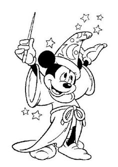 Magic Mickey Mouse Disney Coloring Pages by ava