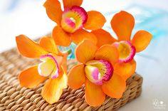 Gumpaste orchids