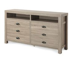 """60"""" Weathered Driftwood TV Stand   Large tv stands, Home ..."""