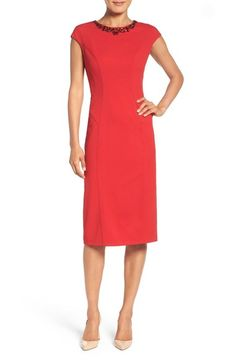 Maggy London Scuba Midi Dress available at #Nordstrom
