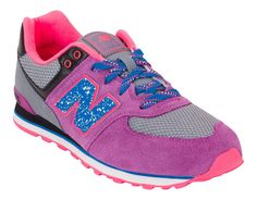 NEW BALANCE 574 Gray Purple Pink Womens 8 (6.5Y) Limited NIB #NewBalance #Athletic