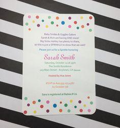 Sprinkle Baby Shower Invitation, set of 20 - Baby Shower Invite - Sprinkle…
