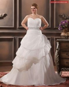 Elegant A-Line Sweetheart Sleeveless Floor-Length Yarn Plus Size Wedding Dresses Bridesmaid Dresses, Prom Dresses, Wedding Dresses, Gown Wedding, Plus Size Wedding, Kaftan, Bridal Gowns, One Shoulder Wedding Dress, Elegant