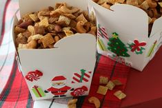It's time to make Snack Mix for Christmas! Add Homemade Chex Mix or your favorite Snack Mix to decorated boxes. Chex Mix Recipes, Cake Recipes, Snack Recipes, Snacks, Homemade Chex Mix, Homemade Gifts, Snickers Recipe, Christmas Cooking, Christmas Gifts