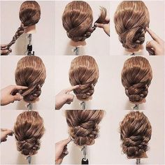 Fabulous #LowBraidedBun For Long Thick Wavy Hair Step Wise #summerupdo2018 #summerhairstyle