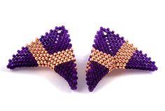 Beloved Beadwork CrissCross Earrings Purple