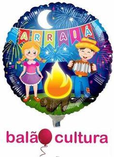 Balão Metalizado Festa Junina - Kit 10 Balões. Veja mais na Loja!
