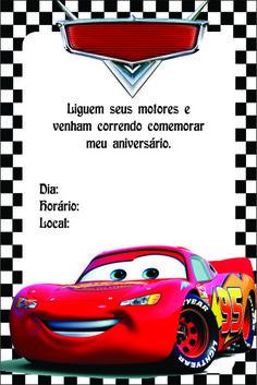 dicas de convites de aniversário infantil carros