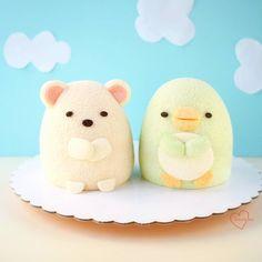 Sumikko gurashi Polar bear and Penguin Chiffon Cakes by Susanne Ng (@susanne.decochiffon)
