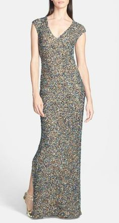 Head to toe sequin gown...enough said.