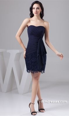 http://www.ikmdresses.com/Dark-Navy-Mini-Chiffon-Soft-Sweetheart-Bridesmaid-Dress-p21930