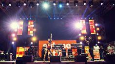 Tara McDonald live on stage at Rise Up festival, Croatia